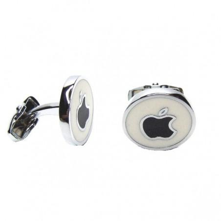 Manžetové knoflíčky kulaté s motivem Apple