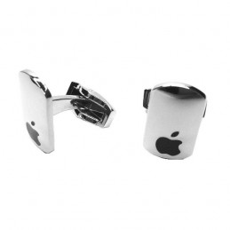 Manžetové knoflíčky obdélníkové s motivem Apple