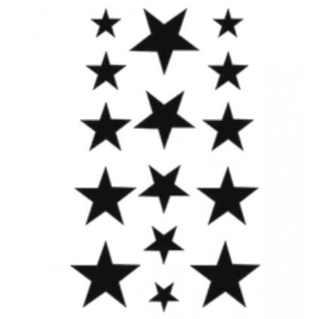 Nalepovací dočasné tetování hvězdy, hvězdičky