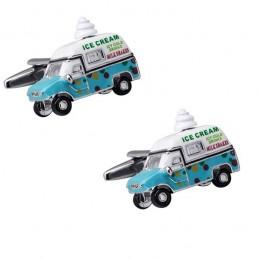 Manžetové gombíky zmrzlinárske auto, zmrzlinár