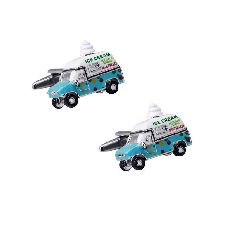 Manžetové knoflíčky zmrzlinářské auto, zmrzlinář