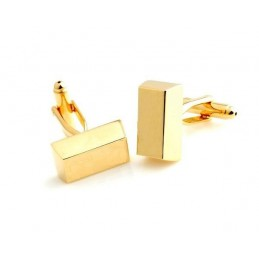 Manžetové gombíky zlatá tehlička, tehla zlata na gravírovanie