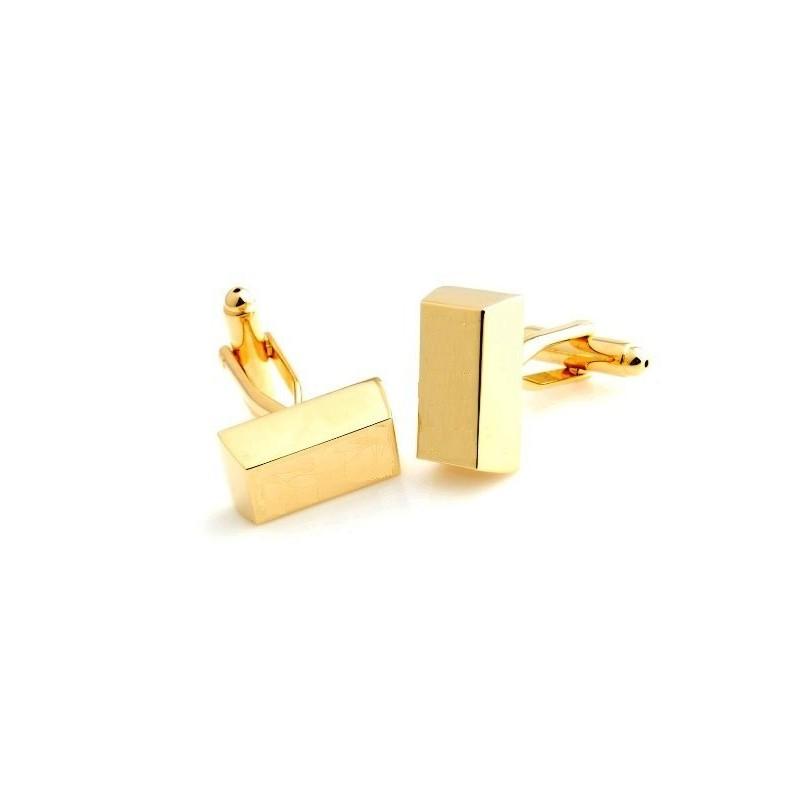 Manžetové knoflíčky zlatá cihlička, cihla zlata na gravírování