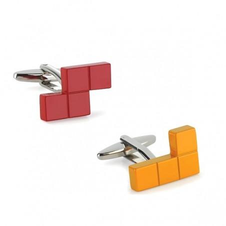 Manžetové knoflíčky tetris kostky L a S