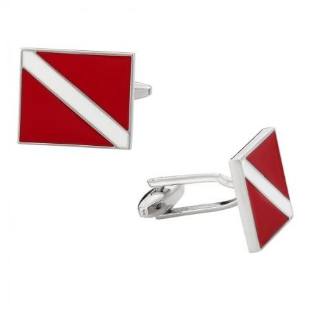 Manžetové knoflíčky s motivem mezinárodní potapěčská vlajka, SEAC SUB