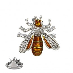 Brož včela medonosná s krystaly