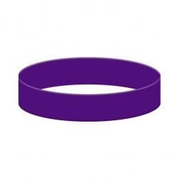 Silikonový náramek bez potisku fialový