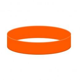 Silikónový náramok bez potlače oranžový