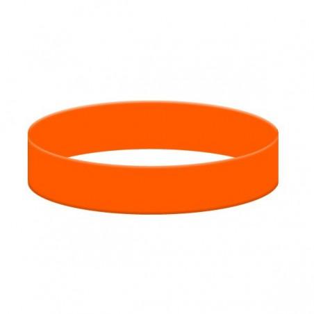 Silikonový náramek bez potisku oranžový