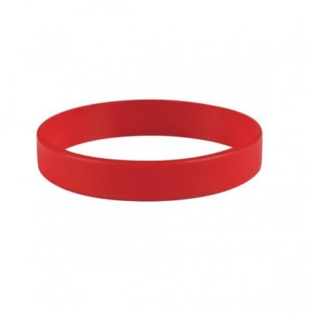 Silikonové náramky jednobarevné, Barva červená, bez potisku