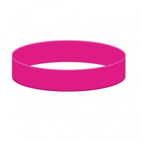 Silikonový náramek bez potisku růžový