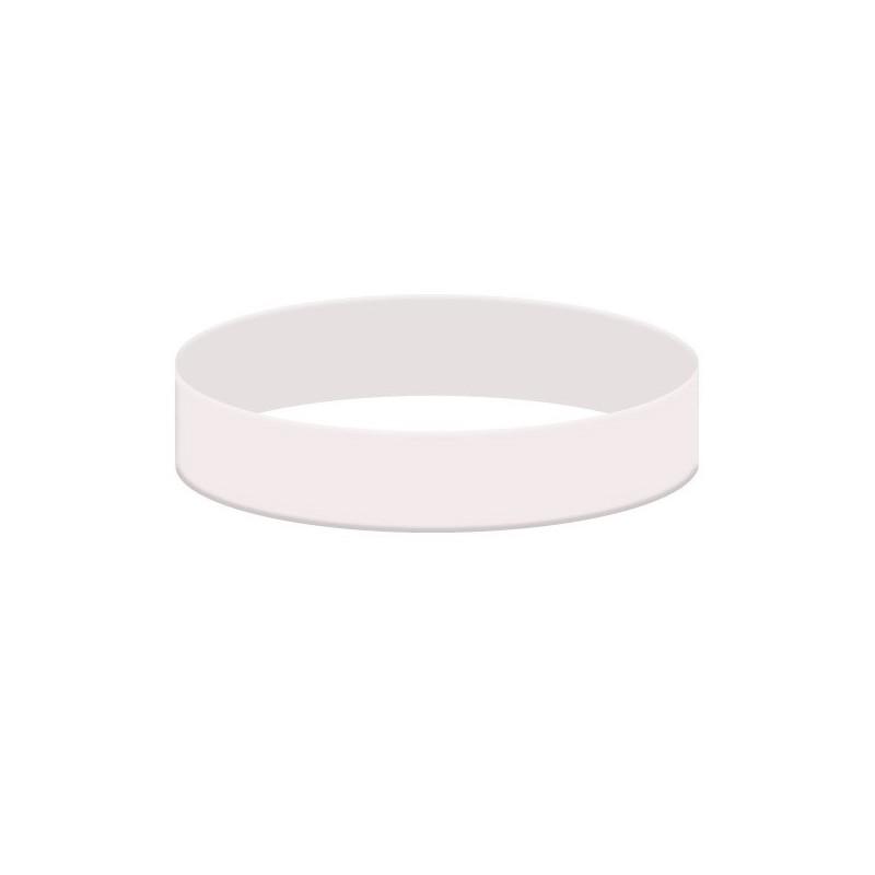 Bílý gumový náramek ze silikonu