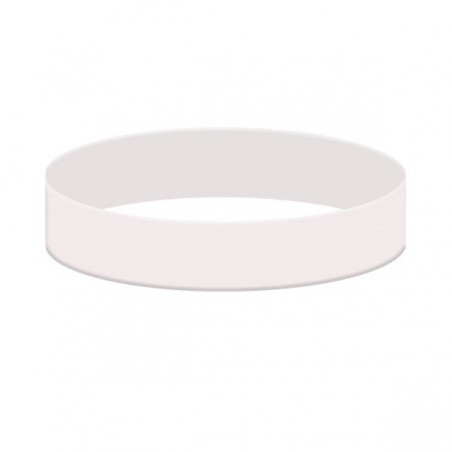 Náramky ze silikonu jednobarevné, Barva bílá, bez potisku