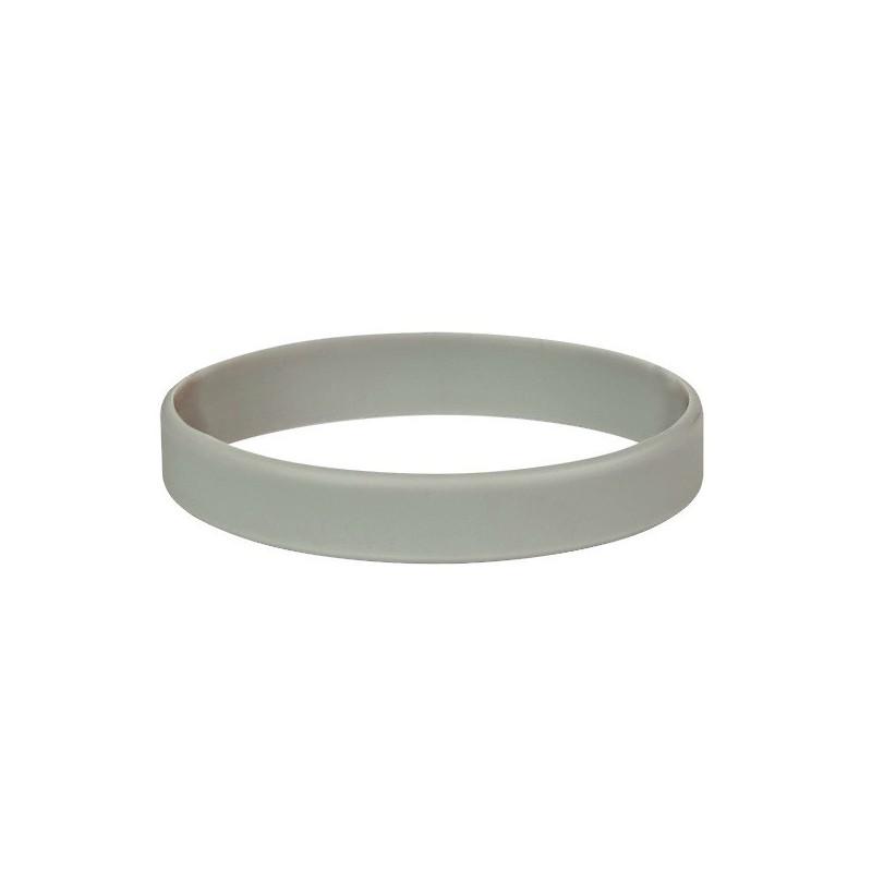 Silikonový náramek bez potisku šedý