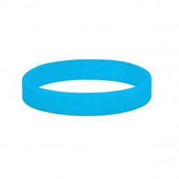 Silikónové náramky jednofarebné, Farba modrá, bez potlače