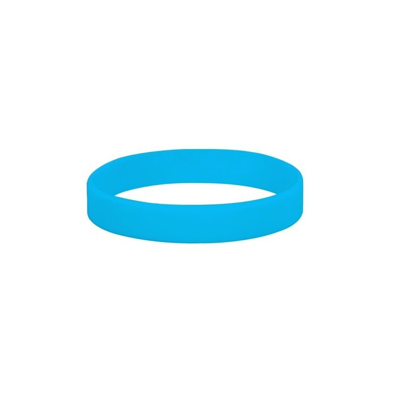 Silikonové náramky jednobarevné, Barva modrá, bez potisku