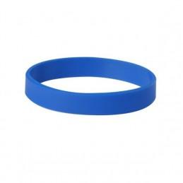 Silikonový náramek bez potisku modrý