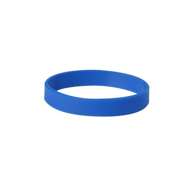 Silikónový náramok bez potlače modrý