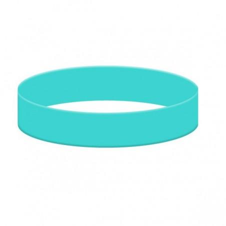 Silikonové náramky jednobarevné, Barva tyrkysová, bez potisku