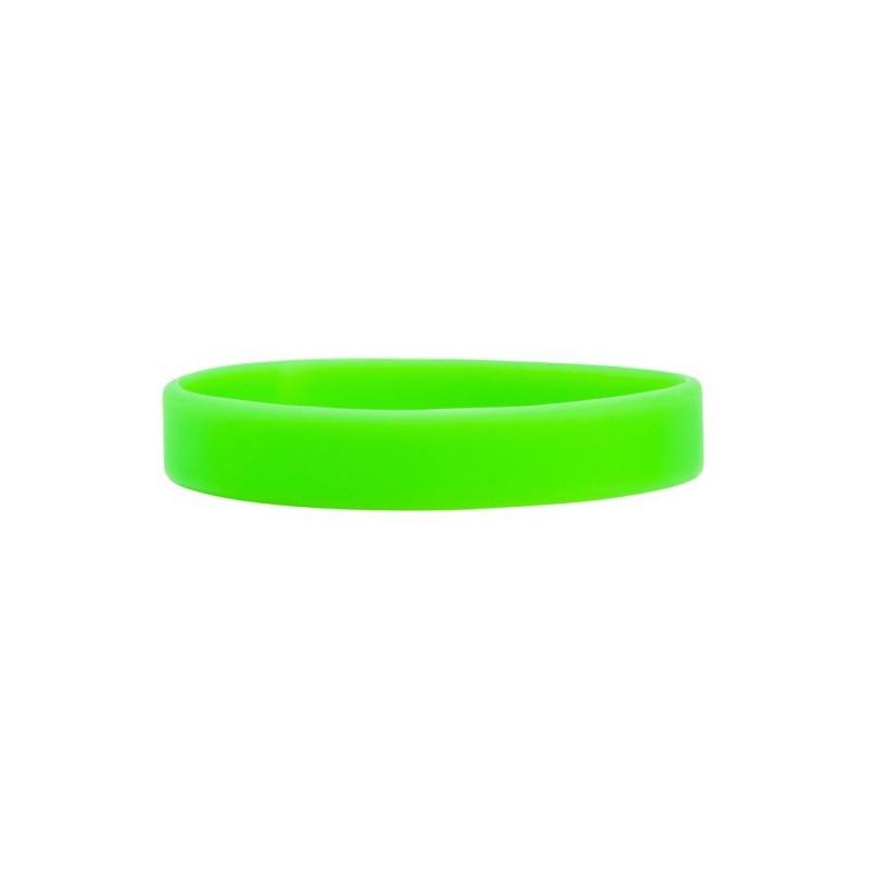 Silikonové náramky jednobarevné, Barva zelená, bez potisku