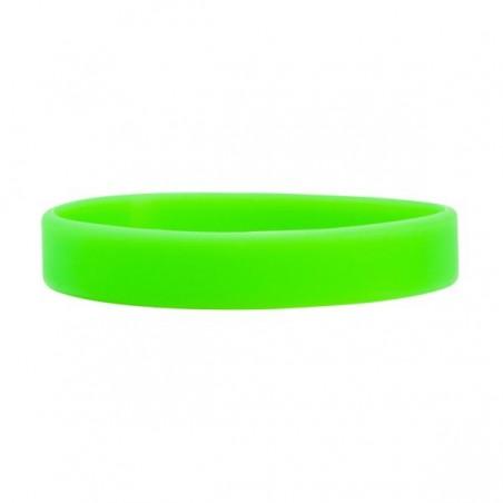 Silikónový náramok bez potlače zelený