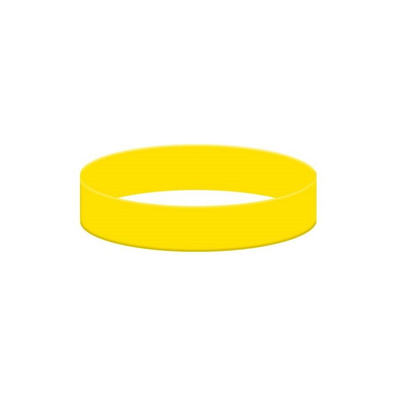 Silikonowa bransoletka żółta