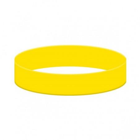 Silikonové náramky jednobarevné, Barva žlutá, bez potisku