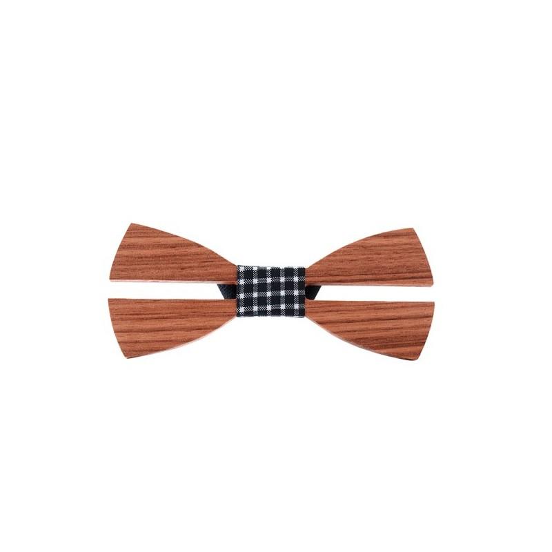 Motýlek pánský dřevěný kubistický 3D kostky