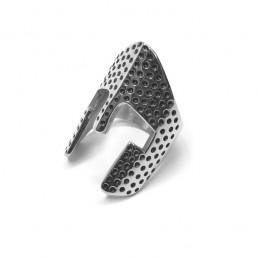Női acél gyűrű strasszokkal