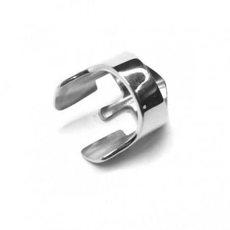 Prsten masivní z chirurgické oceli, helmice, helma Spartan
