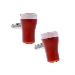 Manžetové knoflíčky točené pivo, sklenice s pivem