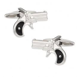 Manžetové gombíky kovbojské, ručná zbraň, revolver