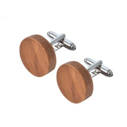 Manžetové gombíky drevené okrúhle