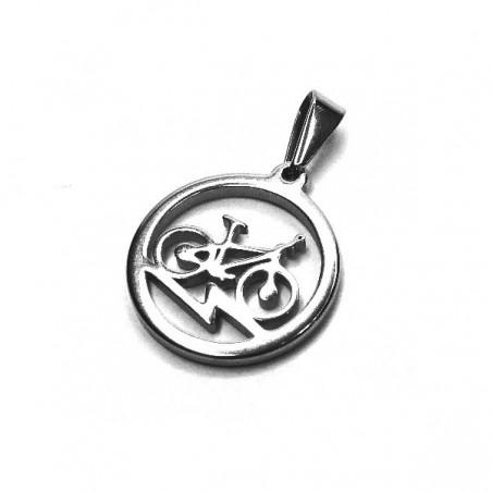 Přívěsek kulatý kolo bike z chirurgické oceli