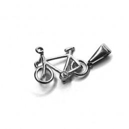 Medál acélból kerékpár kövekkel