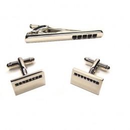 Pánský set manžetové knoflíčky a kravatová spona Classic