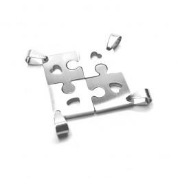 Přívěsek nerezový skládací puzzle pro čtyři