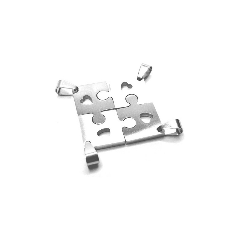 Přívěsek nerezový puzzle pro čtyři kamarádky