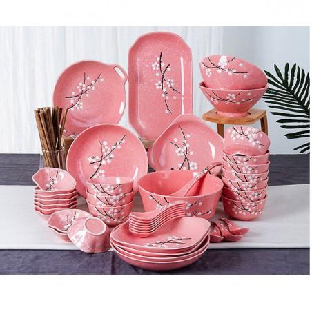 Rote Geschirr Sushi-Set