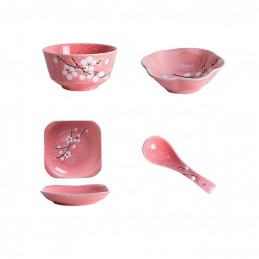 Dárkový sushi set s květinovým vzorem