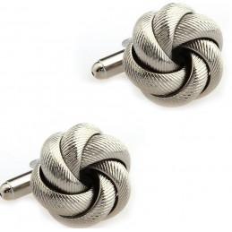 Spinki do mankietów węzeł, sznurek, lina