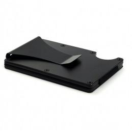 Carcasă pentru carduri cu protecție RFID și agrafă pentru bancnote, slim