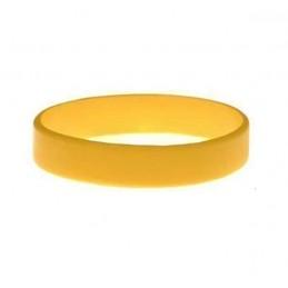 Silikonový náramek bez potisku okrový, zlatý