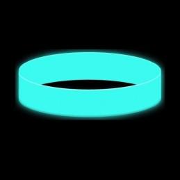 Silikonový náramek bez potisku svítící ve tmě