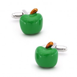 Spinki do mankietów zielone...
