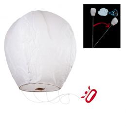 Bezpečný lietajúci lampión šťastia na povrázku, s motúzom