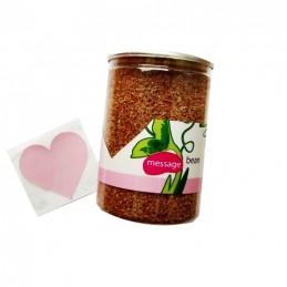Kouzelná rostoucí fazole v plechovce, zamilovaný vzkaz na fazoli