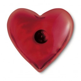 Hřejivý polštářek, kapesní ohřívač rukou srdce červený