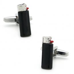 Manžetové gombíky zapaľovač, pre retro fajčiara