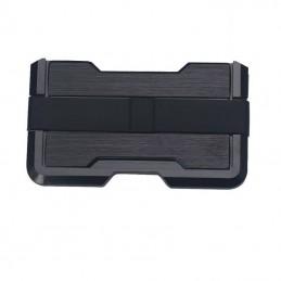 Peněženka RFID hliníková černá